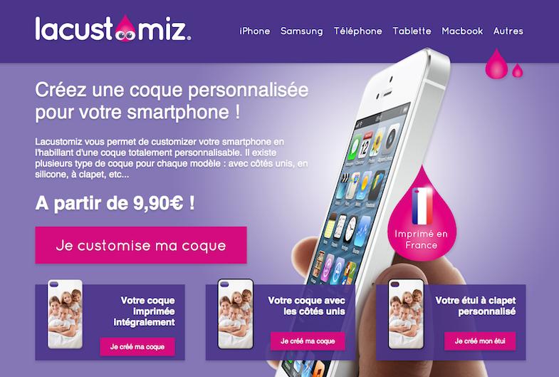Lacustomiz-coque iphone personnalisée